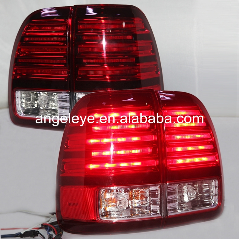 1998-2002 year For Lexus LX470 LED Tail light  Rearlights Red White LF