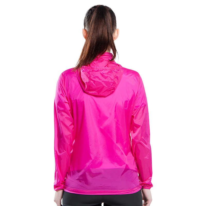 Tectop Outdoor Mannen vrouwen Sneldrogende Anti-Uv Waterdichte Wind Protector Regen Ultralight Ultra-dunne Huid Jas Wielertrui