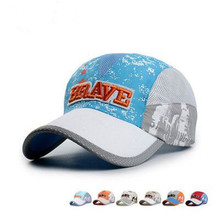 new children s outdoor quick drying mesh hat travel portable Benn casquette baseball cap 50