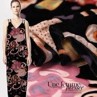 High custom autumn hollowed out silk velvet fabric mulberry silk velvet cloth velvet fabric breathable comfort silk fabric