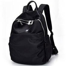 Для женщин Повседневное Рюкзаки с штекер наушников Водонепроницаемый Нейлон Школьная Сумка Студенты Рюкзак Для женщин Дорожные сумки для подростка Обувь для девочек
