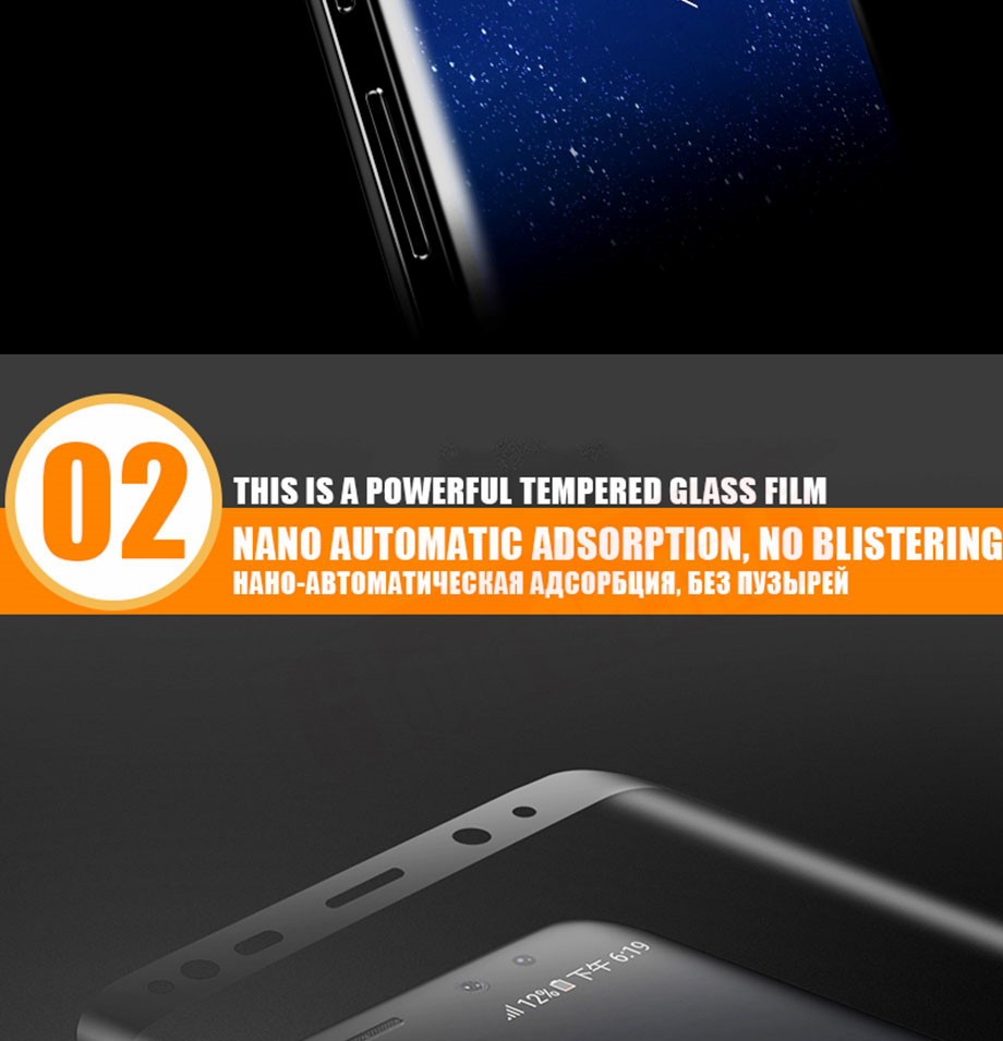 2-PC-For Samsung Galaxy S8 Tempered Glass