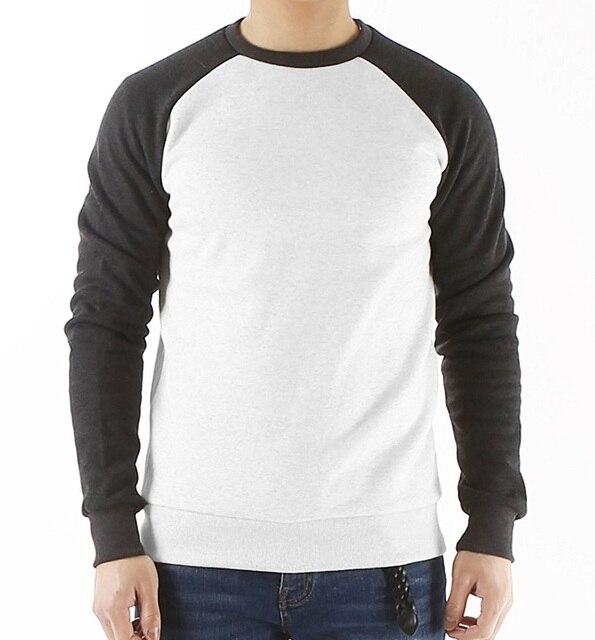 long raglan sleeve fleece hoodies sweatshirt men streetwear solid color 2019 autumn brand clothing tracksuit hoodie mens S-XXL