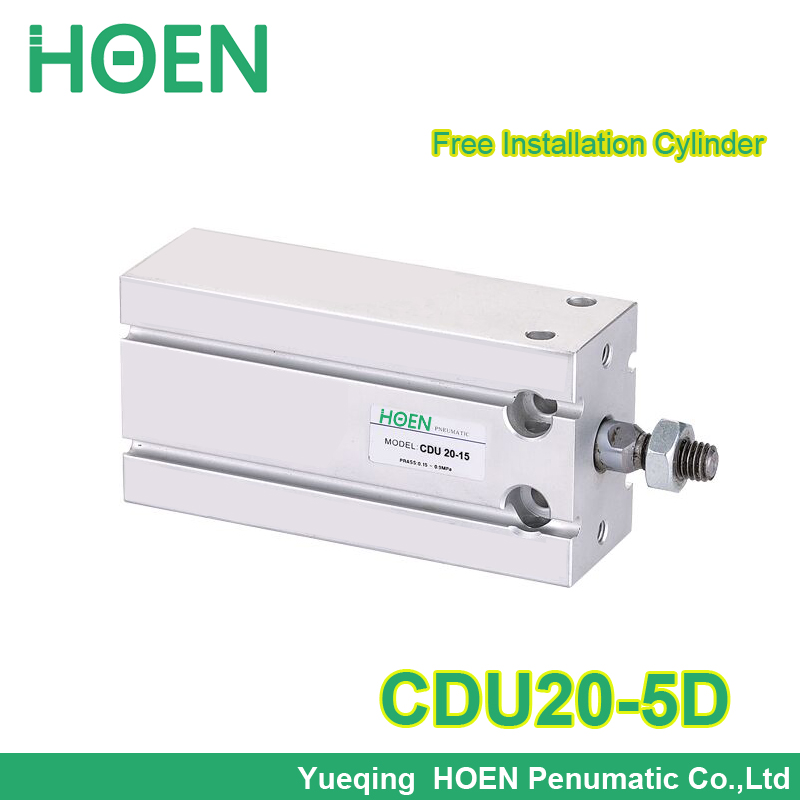 Free Mount cylinder CDU20-5 Double action Male Thread Single Rod free installation Air Pneumatic Cylinder CDU 20-5 CDU20-5DFree Mount cylinder CDU20-5 Double action Male Thread Single Rod free installation Air Pneumatic Cylinder CDU 20-5 CDU20-5D