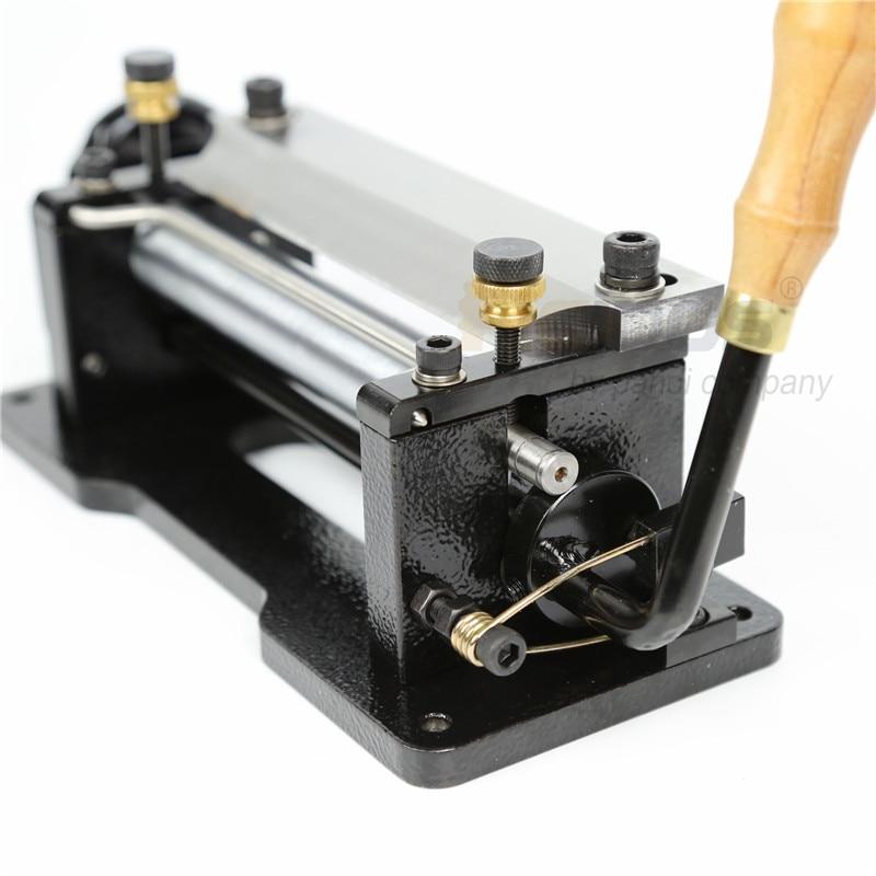 """ER806 6 """"นิ้วคู่มือหนัง skiver, RCIDOS หนัง peel เครื่องมือ DIY พลั่วผิวเครื่อง, หนัง splitter, มีดพลาสติก, เครื่องตัด-ใน การตัด จาก บ้านและสวน บน   2"""