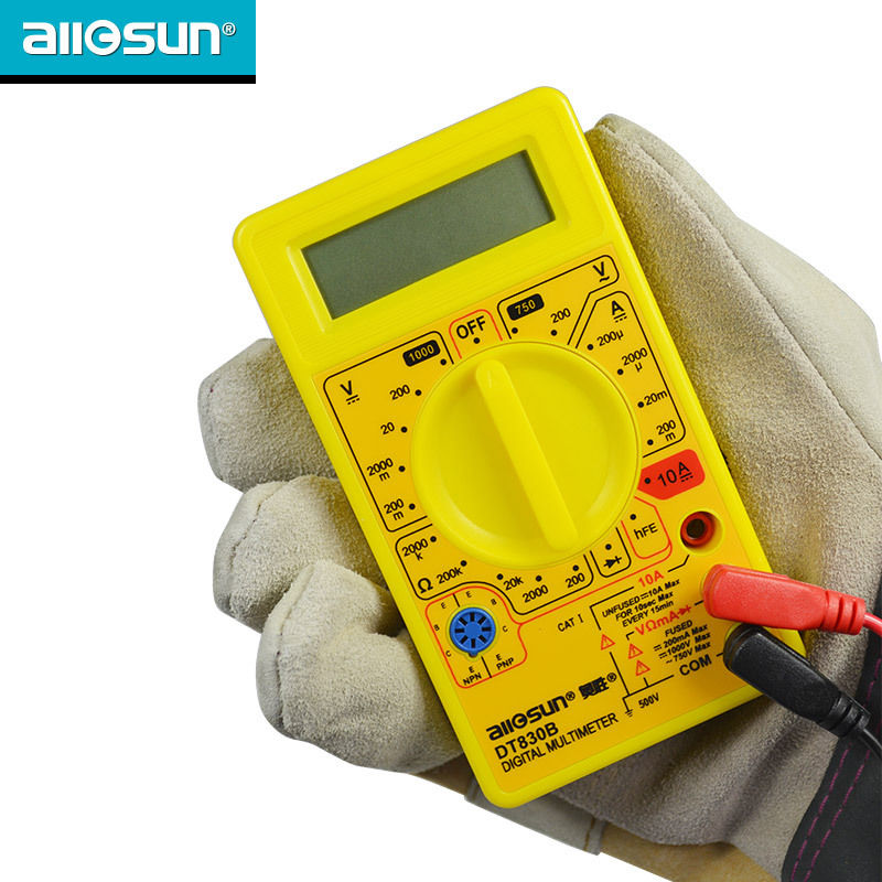 all-sun DT830B AC/DC Ammeter Voltmeter Ohm Electrical Tester Digital Multimeter ship from Russia