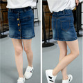 Girls Length New Children's Wear Jeans Package Hip Denim Skirt Kids Clothing Blue Button