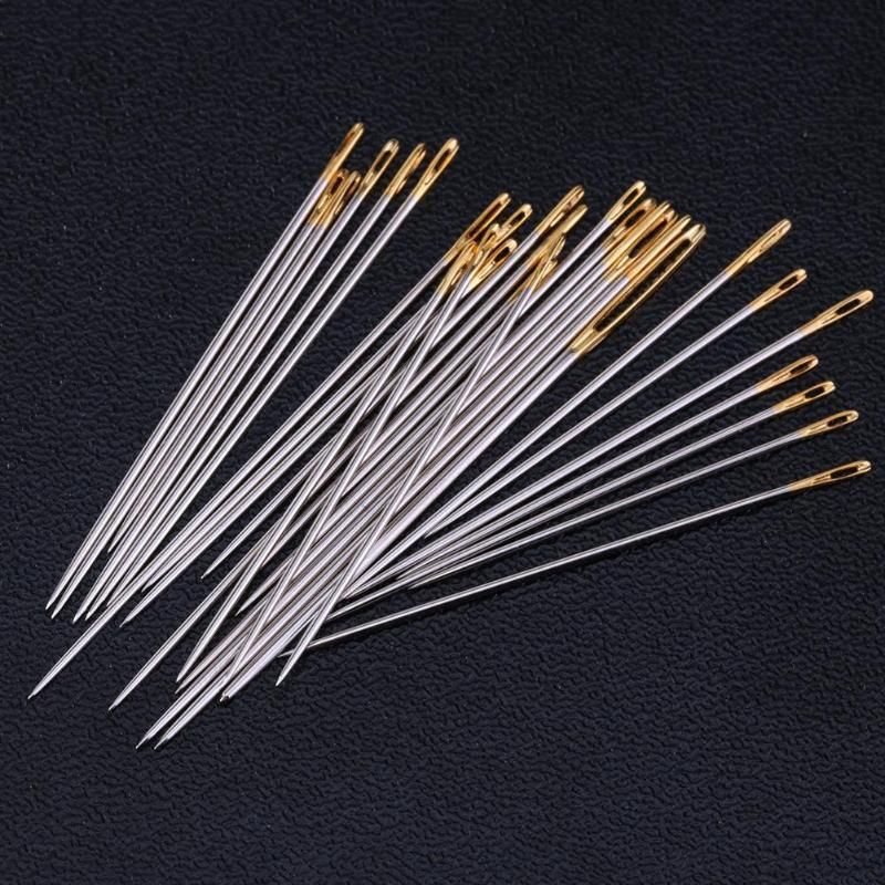 16Pcs/set  Large Leather Hand Sewing Needles Gold Eye Needle Embroidery Tapestry Home Wool DIY Sewing Accessories