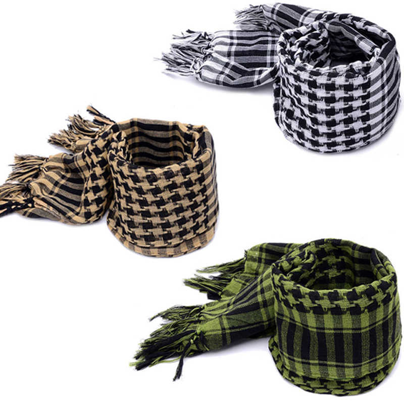 Men Scarf Military Arab Tactical Desert Army Shemagh KeffIyeh Outdoor Scarf