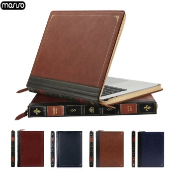 MOSISO Vintage PU Leather Case For Macbook Air 13 Pro Retina 13 15 Touch Bar Laptop Case Cover for Macbook Air 13 inch A1932 New huevm leather sleeve bag stand cover for apple macbook air retina 11 12 13 15 laptop case for new pro 13 3 inch air 13 3 inch