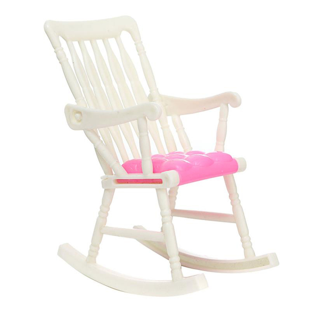 Toy Rocking Chair Small Seat Doll Furniture Dolls Accessories Kid Play  House Toy Chair Model For