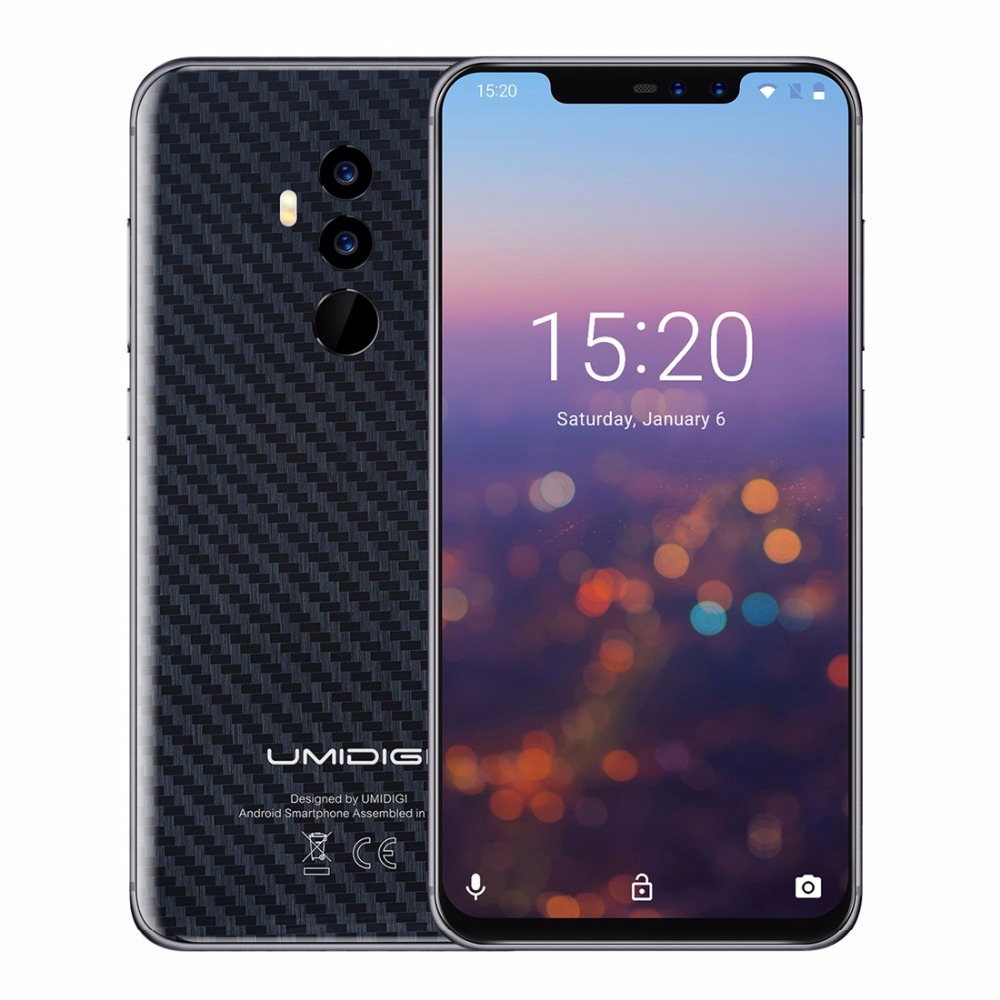 "UMIDIGI Z2 Special Edition MTK6763 2.0GHz Octa core Smartphone 6.2"" 4GB RAM 64GB ROM Fingerprint Global 4G Cellphone Face ID"
