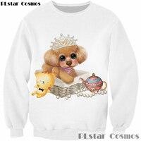 PLstar Cosmos 2017 Design Fashion 3D Sweatshirt Animal Cute Poodle Print Long Sleeve Outerwear Men Women