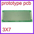 100 pcs 3x7 cm duplo Side Protótipo Copper Pcb Board