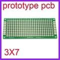 100 unids 3x7 cm doble Side Prototipo Copper Pcb Junta