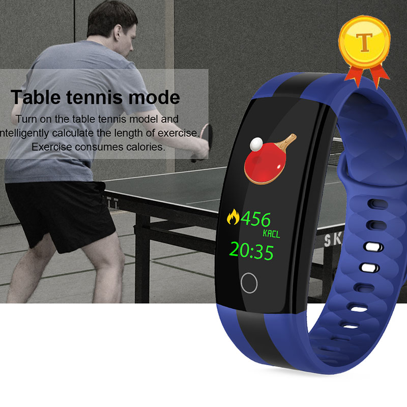 2018 table tennis mode Smart Bracelet wristWatch Fitness Tracker Support Whatsapp email sync Heart rate Smart