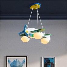 купить modern simple creative aircraft light plane lamp LED Ceiling lighting for boy Children's Bedroom girl kid room study lamp e27 дешево