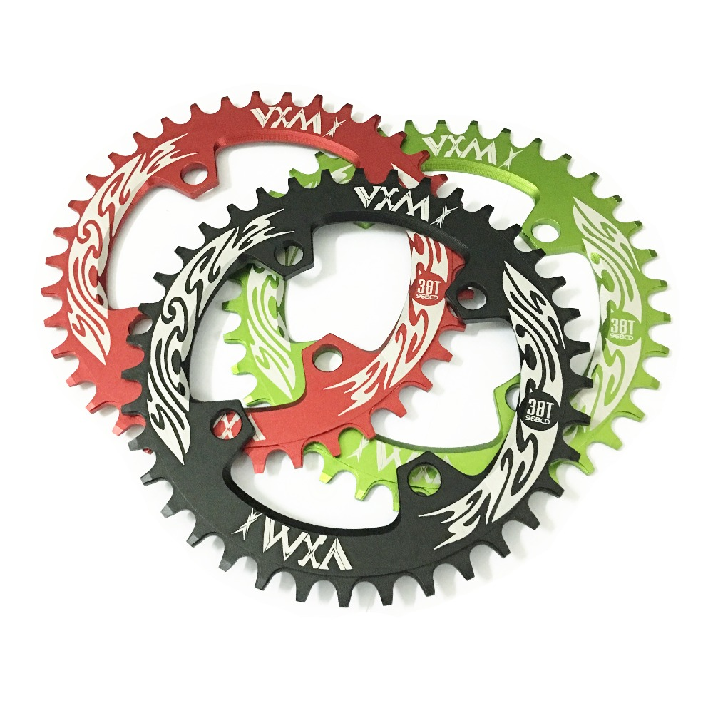 Купить с кэшбэком VXM Bicycle Crank&Chainwheel 96BCD 32T/34T/36T/38T Round Narrow Wide Chain ring MTB Road Bike Crankset Chainwheel Bicycle Parts