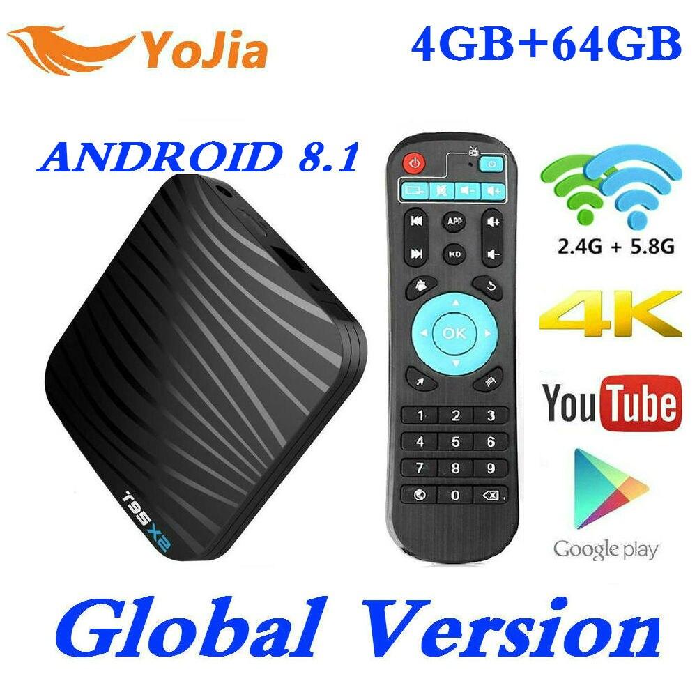 2019 4K Smart TV Box Android 8 1 T95X2 Amlogic S905X2 Set top Box 4GB RAM