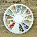 240 unids/caja nail art rhinestone 2mm colorido brillante 3d uñas decoración inferior de sharp para el uv gel nail art 8295529