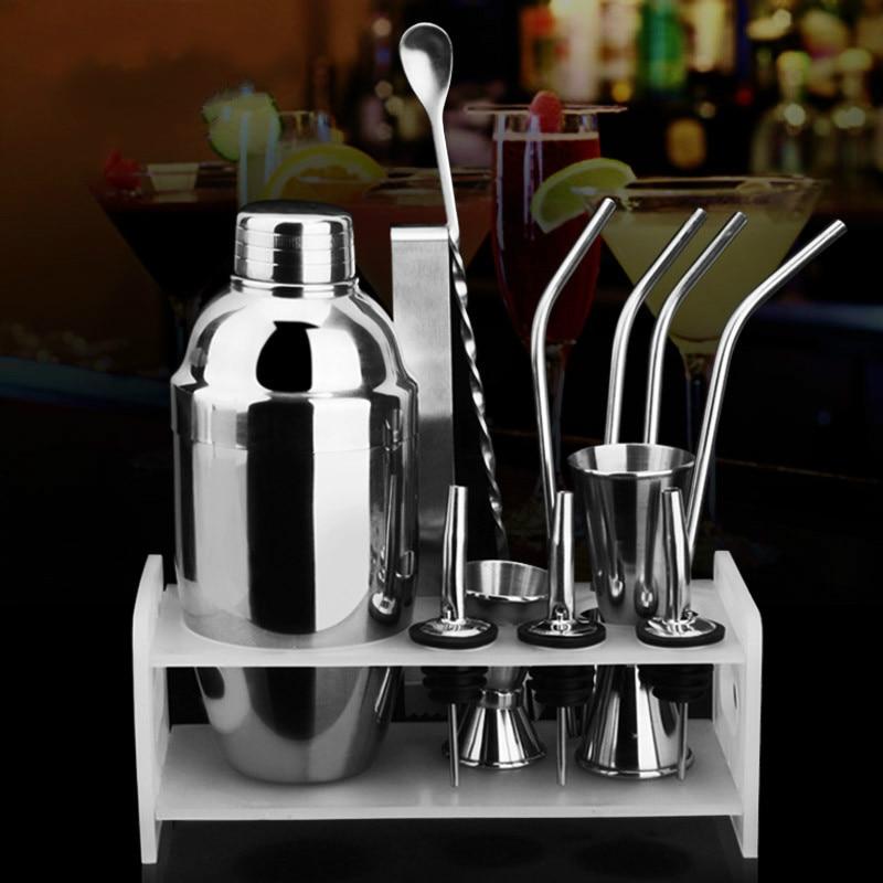 New 350 550ml Stainless Steel Cocktail Shaker Mixer Kit Bar Bartender Tools Set In