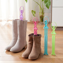 Adjustable Length Hook Girl Ballet Scalable Tree Shoes Table Shoe Rack Long Boots Stays Folder prateleira estante cabideiro #555