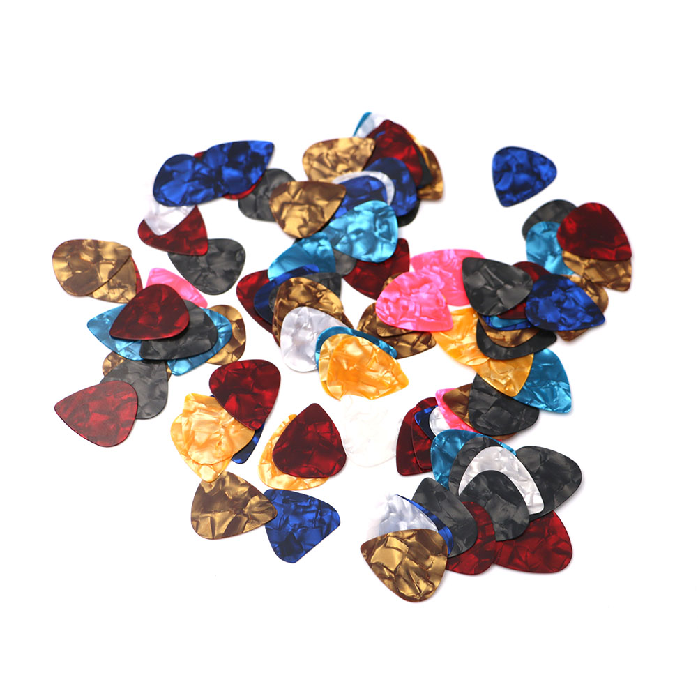 100Pcs/Lot 0.38mm-0.8mm Thickness Guitar Picks Guitarra Plectrums Instrument Accessories Guitar Picks Guitarra Parts