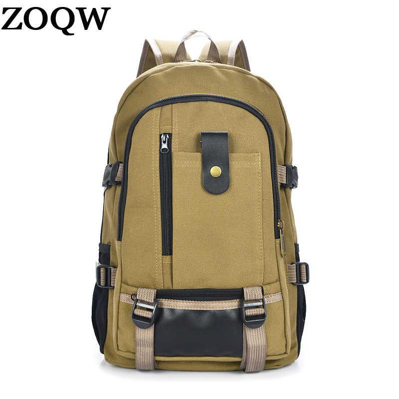 ZOQW 2018 корейский Для мужчин рюкзаки Повседневное холст ноутбук рюкзак мужской рюкзак школьные сумки Сумка Человек дорожные сумки mochila WYQ517