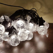 20pcs 5m 10led G50 Clear/Milky Frosted Festoon Globe LED String Lamp for Outdoor Wedding/Party/Backyard/Patio/Cafe String Lights