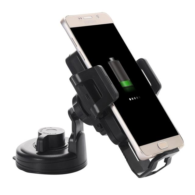 Copa de Coche Universal Air Vent Mount Holder Soporte con Qi Estándar cargador inalámbrico para el samsung galaxy s6/s6 edge +/iPhone