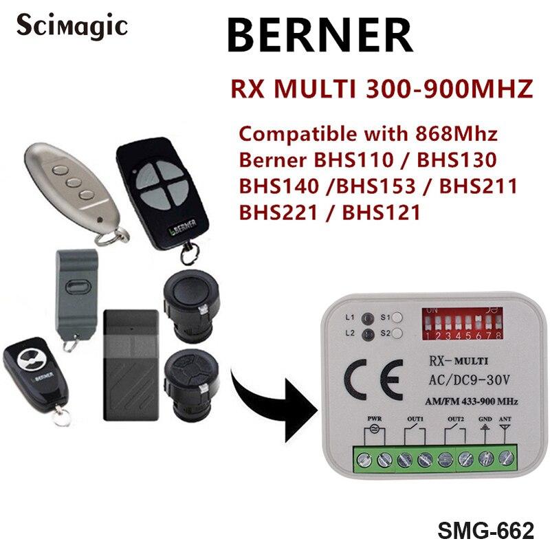 -fernbedienung Berner Bhs121 Berner Bhs130 Berner Bhs15 Sender Fernbedienung 868,3 Mhz Empfänger