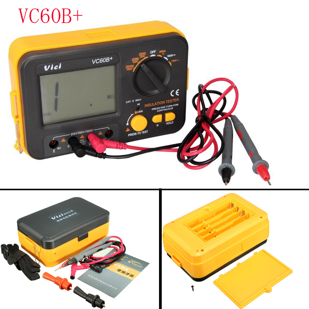 LCD Display  Insulation Resistance Tester Digital Megger VC60B+ Anti-magnetic Anti-jammingLCD Display  Insulation Resistance Tester Digital Megger VC60B+ Anti-magnetic Anti-jamming