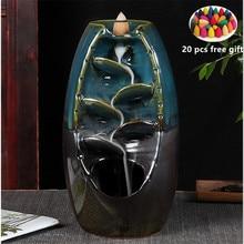 все цены на 4 color mountain stream river incense holder ceramic incense burner incense holder smoke waterfall incense waterfall онлайн