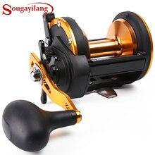 Sougayilang Троллинг Рыболовная катушка для заброса приманки катушка Рыболовная катушка колесо для морская вода большая Рыбная ловля