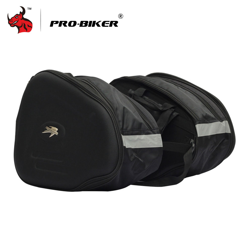 PRO-BIKER Motorcycle Saddle Bag Motorbike Side Bags Saddlebags Motorcycle Tail Bags Luggage Motorcycle Bag Black motorcycle rear bag black d tail alforjas para saddle bags tail bag ogio