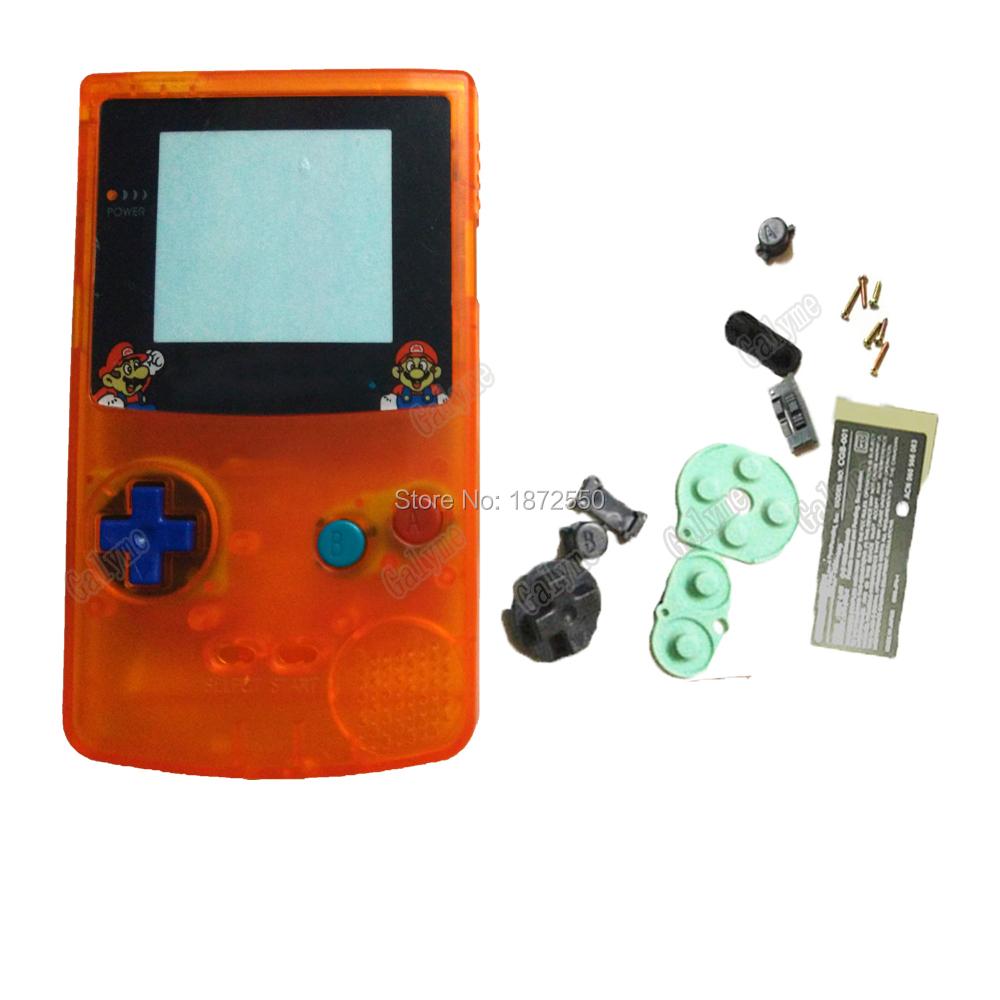 Game boy color kaufen - Klar Orange Farbe Geh Use Mit Cartoon Logo Full Set Shell Fall Geh Use F R Gameboycolor Junge Geschenk