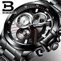 2017 Homens Relógios Top Marca de Luxo BINGER Grande Dial Designer Cronógrafo Resistente À Água relógios de Pulso de quartzo inoxidável B-9016-4