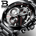2017 Men Watches Luxury Top Brand BINGER Big Dial Designer Chronograph Water Resistant stainless quartz Wristwatches B-9016-4