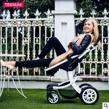 Teknum baby stroller can sit flat lying high landscape folding baby children newborn baby stroller baby car