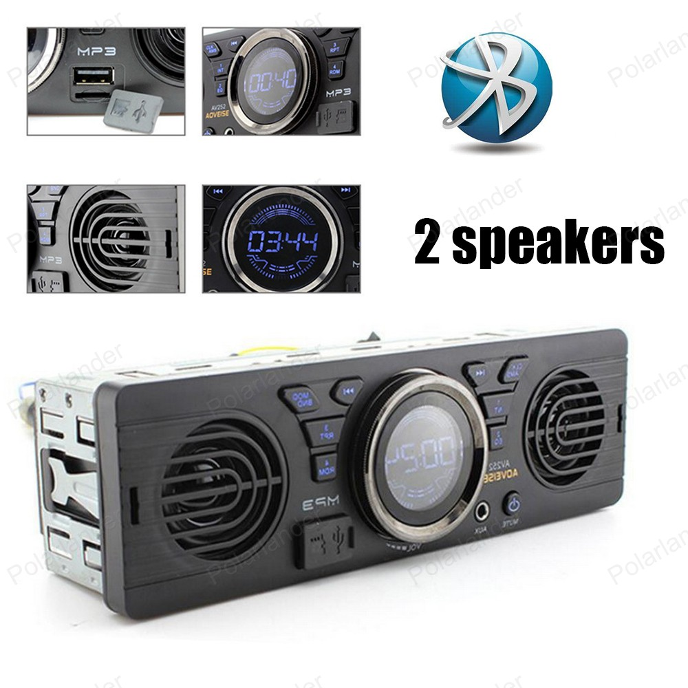 AV252 Built In 2 Speakers MP3 Player 12V Audio Car Radio Bluetooth Handfree In Dash FM
