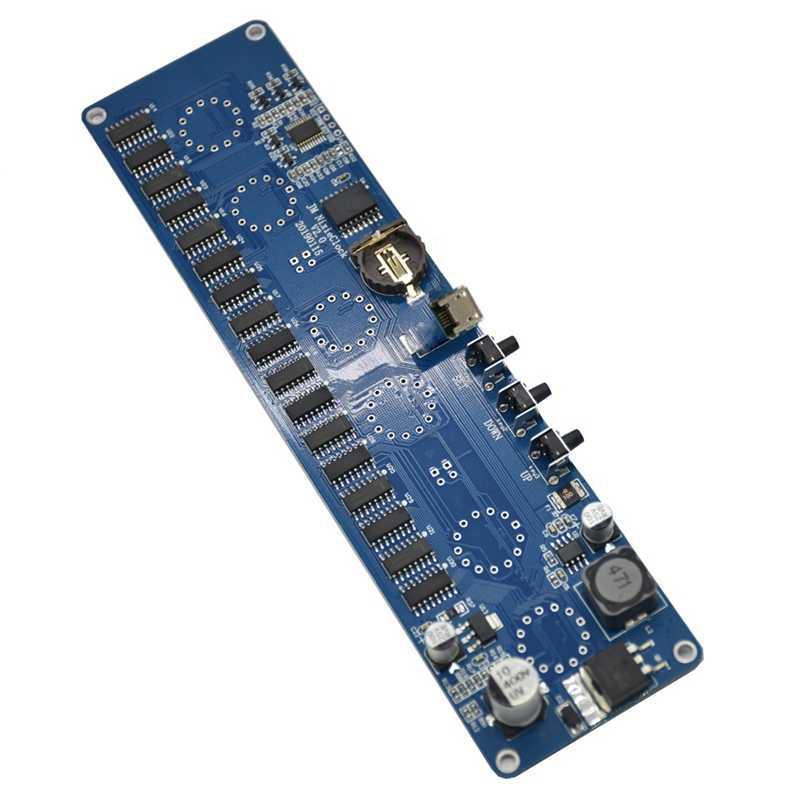 AABB-bricolage In14 In4 Nixie Tube horloge horloge LED numérique cadeau Circuit imprimé Kit, pas de Tubes