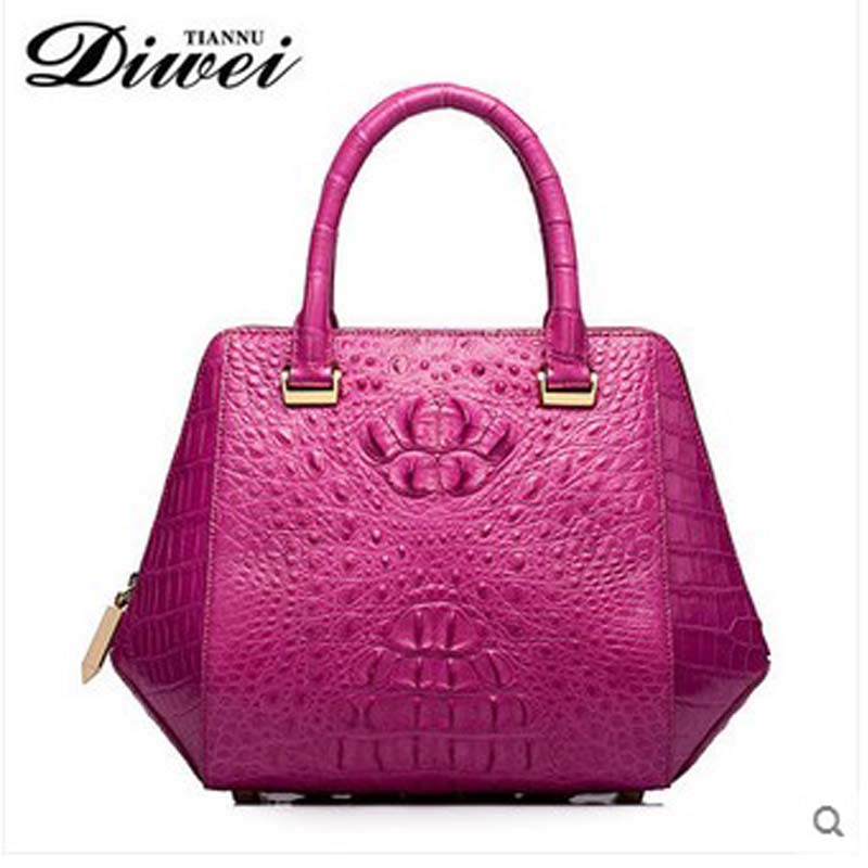 diwei 2018 new hot free shipping  real crocodile skin women bag wings package women handbag female quality goods bag yuanyu 2018 new hot free shipping real thai crocodile women handbag female bag lady one shoulder women bag female bag