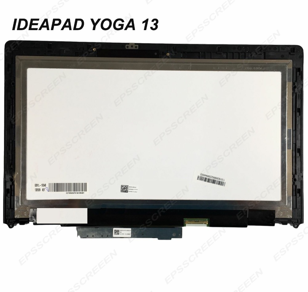For Lenovo Ideapad Yoga 13 20175 LP133WD2 SLB1 LCD Display Touch Screen Digitizer With Frame Led Panel Bezel FRU 04W3519