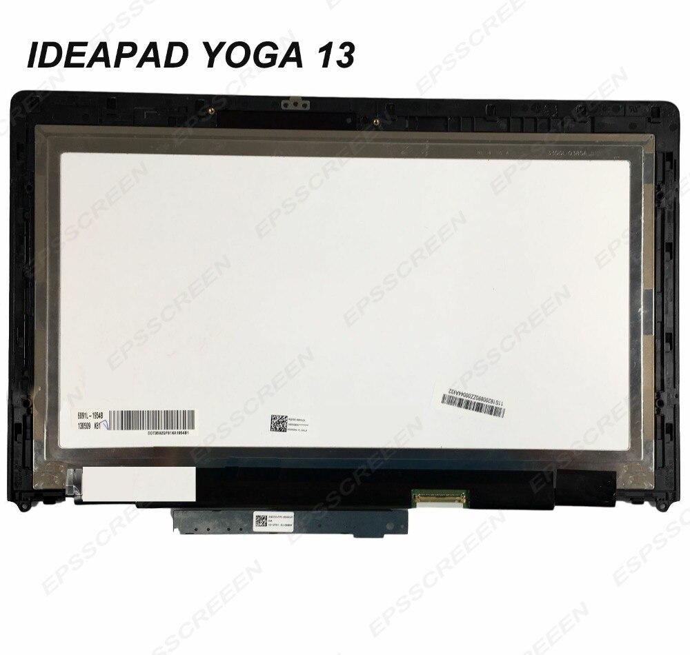 Per Lenovo Ideapad Yoga 13 20175 LP133WD2 SLB1 Display LCD di Tocco Digitale Dello Schermo con cornice led mascherina del pannello FRU 04W3519-in Schermo LCD per laptop da Computer e ufficio su  Gruppo 1
