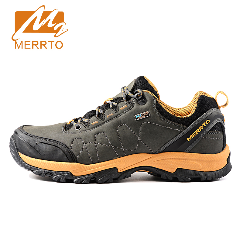 2017 Merrto Mens Walking Shoes New Arrival Breathable Outdoor Sports Shoes Non-slip Travel Shoes For Men Free Shipping MT18632 2017 merrto mens hiking boots waterproof breathable outdoor sports shoes color black khaki grey for men free shipping mt18638
