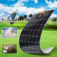 KINCO EL 09 18V/200W Semi Flexible Solar Panel Monocrystalline Silicon Solar System Power Supply For Car Battery +1.5m Cable