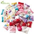 Бесплатная доставка, 10 пар/партия, хлопковые носки для малышей, нескользящие носки-тапочки с резиновой подошвой, Детские хлопковые носки с рисунком для девочек и мальчиков 1-3 лет - фото