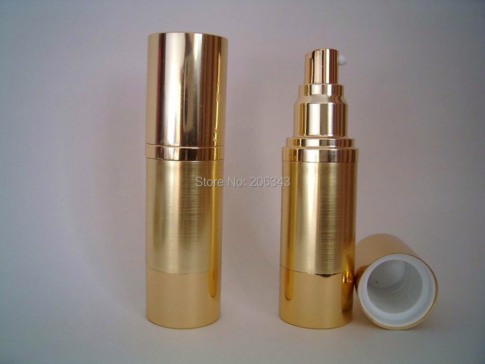 Promotion Item 30ml Aluminum Gold Airless Vacuum Pump