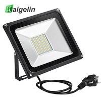 50W AC 220V 240V 5500LM LED Flood Light Spotlight FloodLight With Plug IP65 70 LED SMD5730