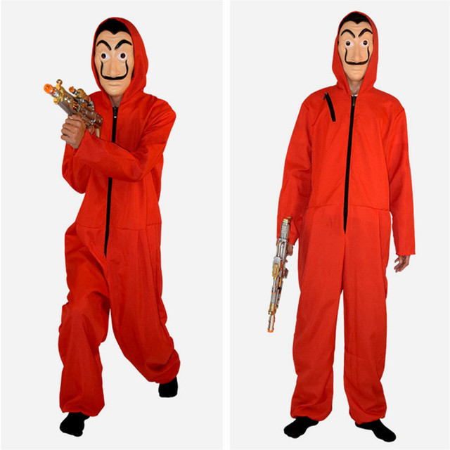 Movie La Casa De Papel Salvador Dali Costume The House of Paper Cosplay Playing Party Halloween Money Heist Costume XS-2XL